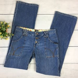 Dolce & Gabbana 70's Retro Style Low Rise Jeans
